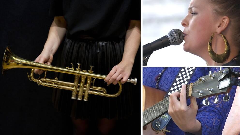 Instrument och musiker Live at Heart