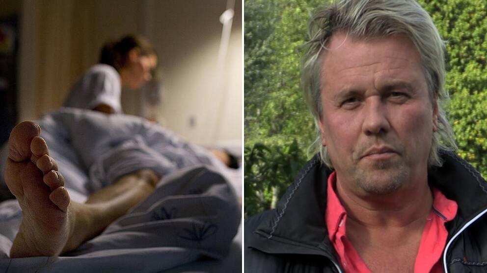 Jan Hammarlöf tycker att vårdpersonalens situation är horribel.