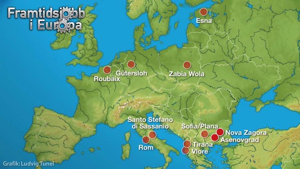 Interaktiv karta över Europa.