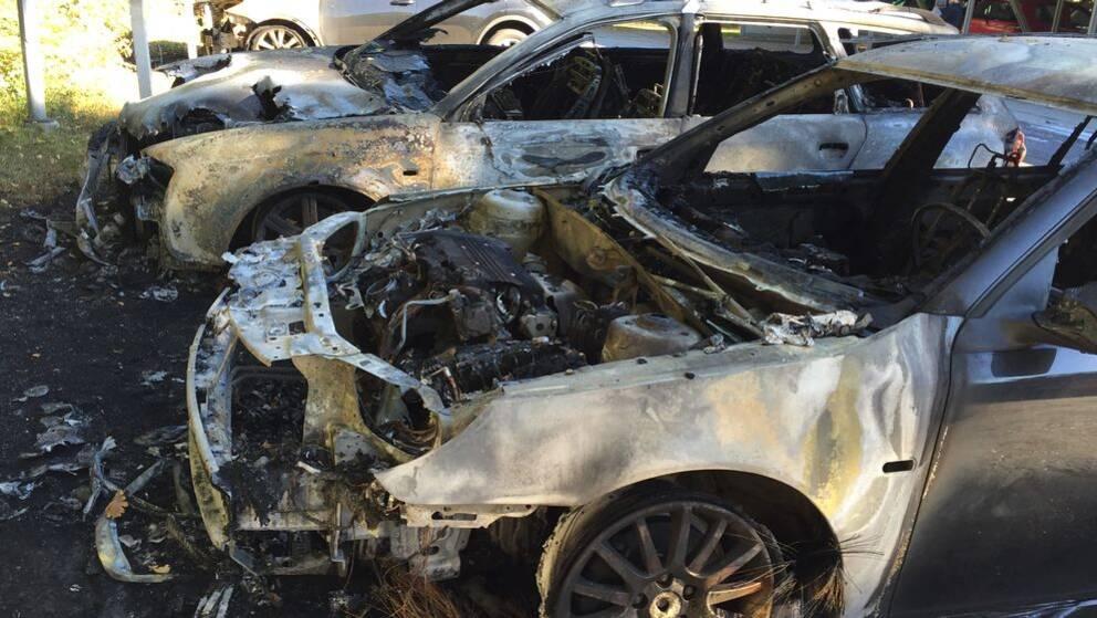 Bilbrand i Västerås