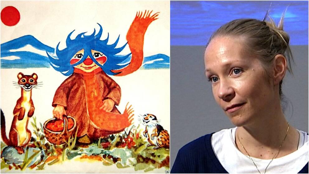 Plupp, bild från barnbokens omslag. Bild på Hilde Stensland.