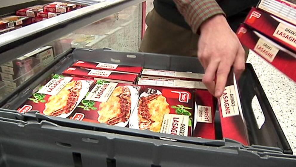 Lasagne-förpackningar