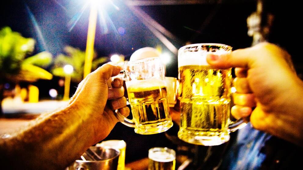 Skål, öl
