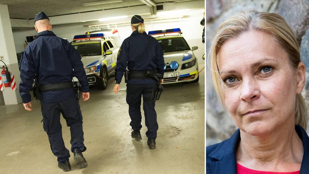 – Regeringen har inte insett poliskrisen helt enkelt. Det är tre poliser om dagen som har slutat – bara i år, säger förbundsordförande Lena Nitz till SVT Nyheter.
