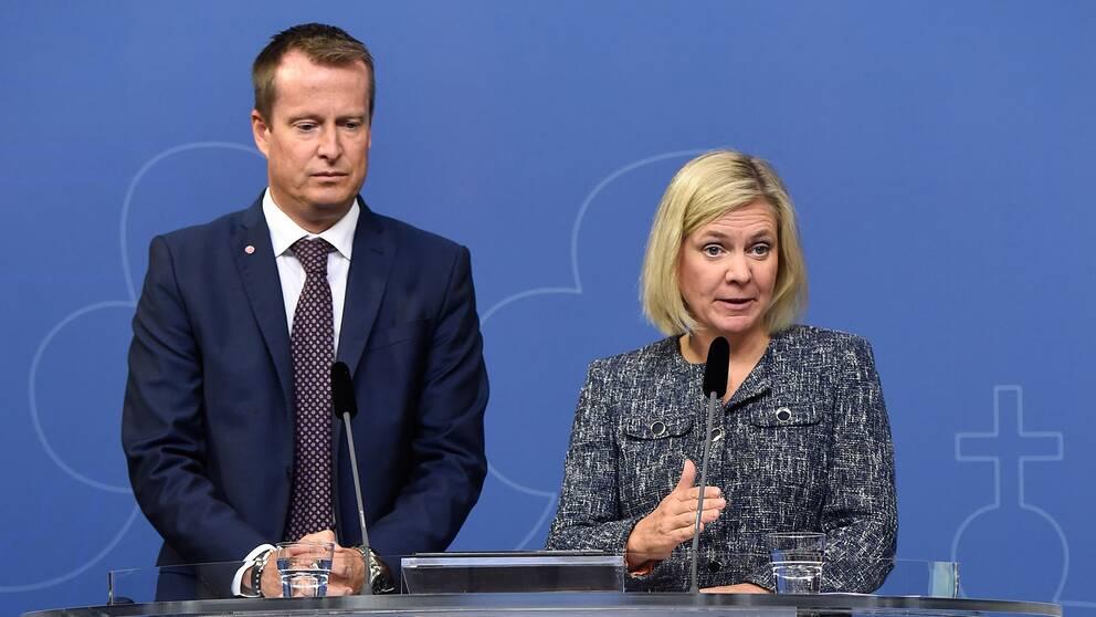 Anders Ygeman och Magdalena Andersson.