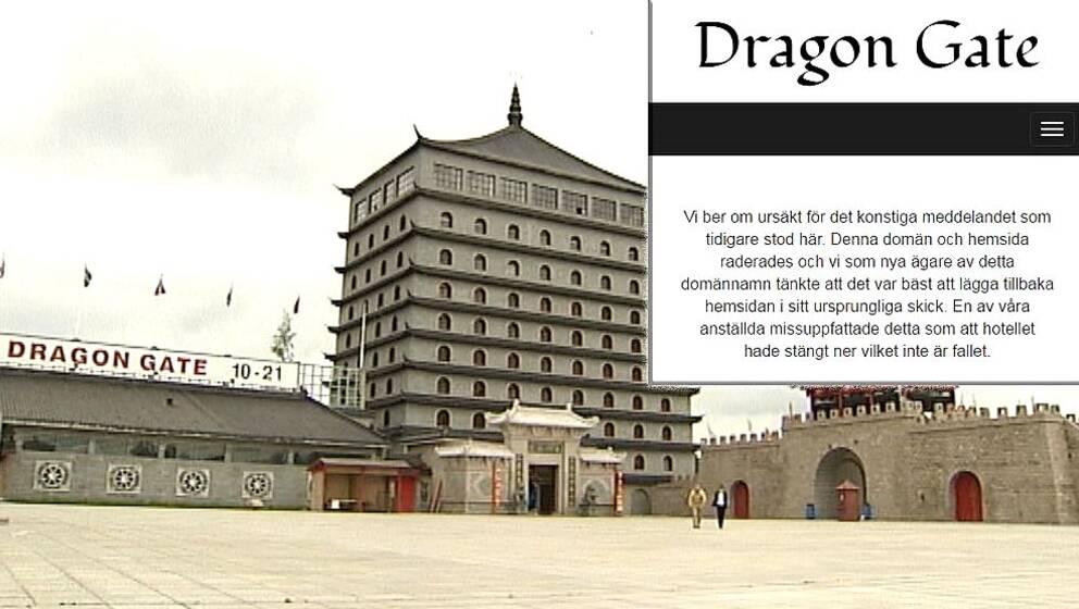 Dragon Gates hemsida ska läggas ned – inte hotellet ...