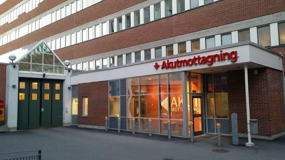 Entré akutmottagningen Universitetssjukhuset i Örebro
