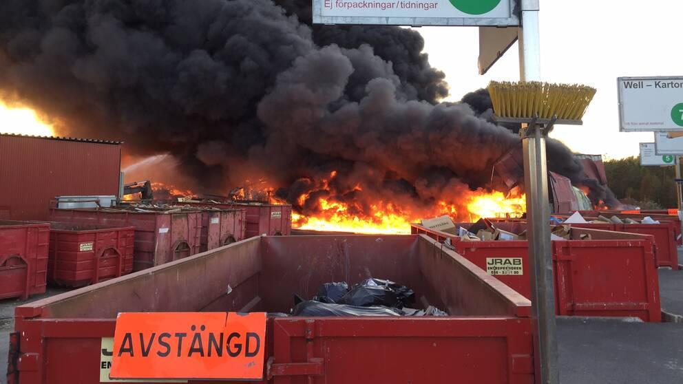 Brinner i avfall
