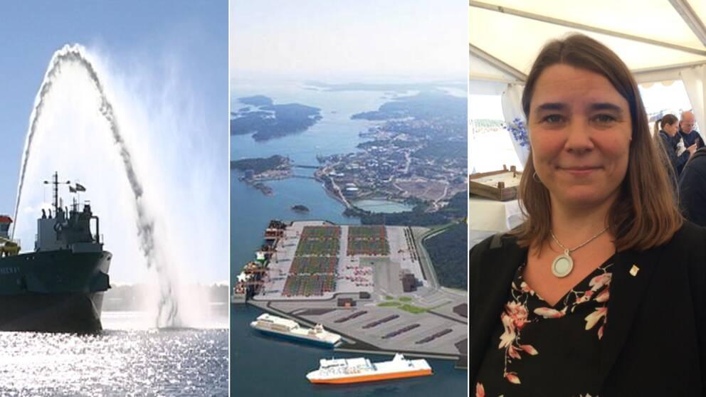 muddringsarbete, vision av Norviks hamn och Anna Ljungdell