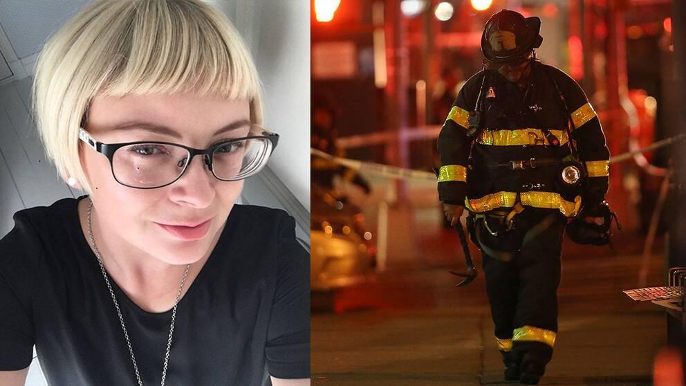"""Hannah-Sophia Karjalainen, från Härryda, befann sig fyra gator från explosionen: """"Det som kändes mest var när vi såg tv-bilder på människor som skadats."""""""