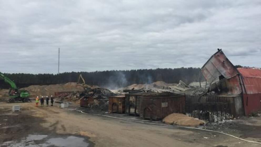 Vaggeryd återvinningsstation brand