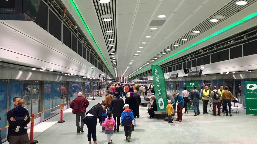 Nya pendeltågsstationen vid Odenplan