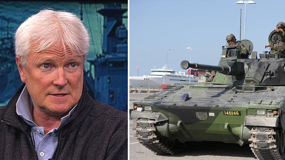 Tomas Ries och svenska militärer på Gotland.