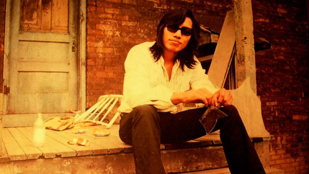 "Musikern Sixto Rodriguez – centrum för filmen ""Searching for Sugarman""."