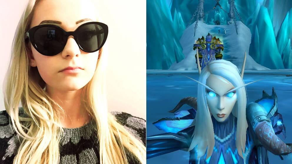 Hanna Wed, ung gamer och hennes spel-avatar