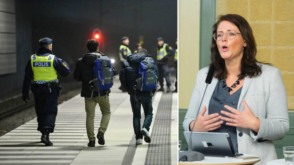 Ebba Östlin (S), kommunalråd i Botkyrka, vill inte behålla de stramare reglerna för flyktingmottagande.