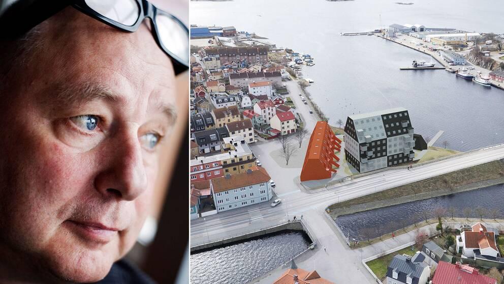 gert Wingård och ritade trähusen på Kilströmskaj