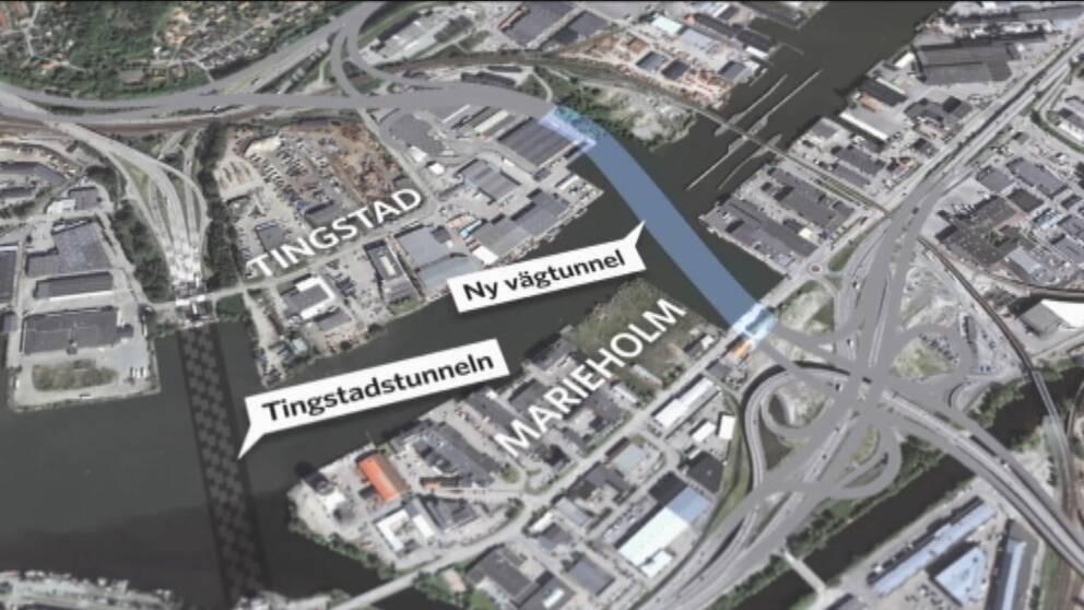 En ny utredning föreslår att det bör införas trängselskatt i den nya Marieholmstunneln.