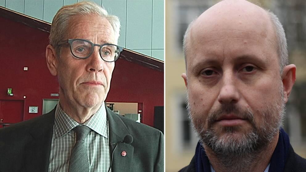 Börje Wennberg (S) och Stefan Olsson (M)