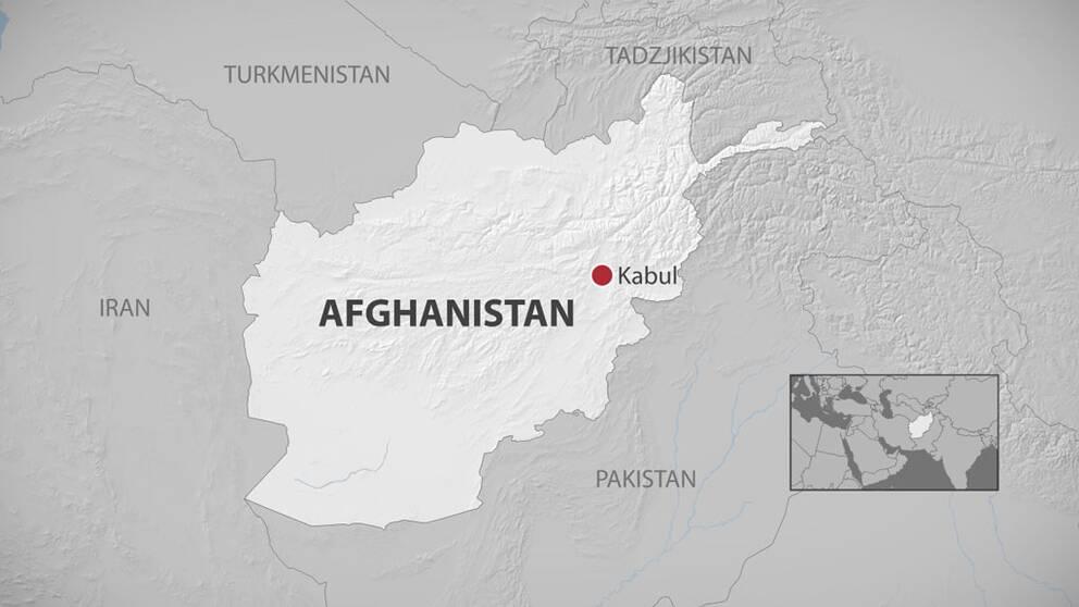 Karta över Afghanistan.