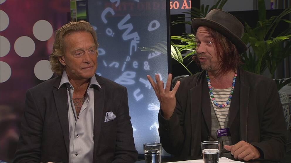Björn Ranelid och Bob Hansson
