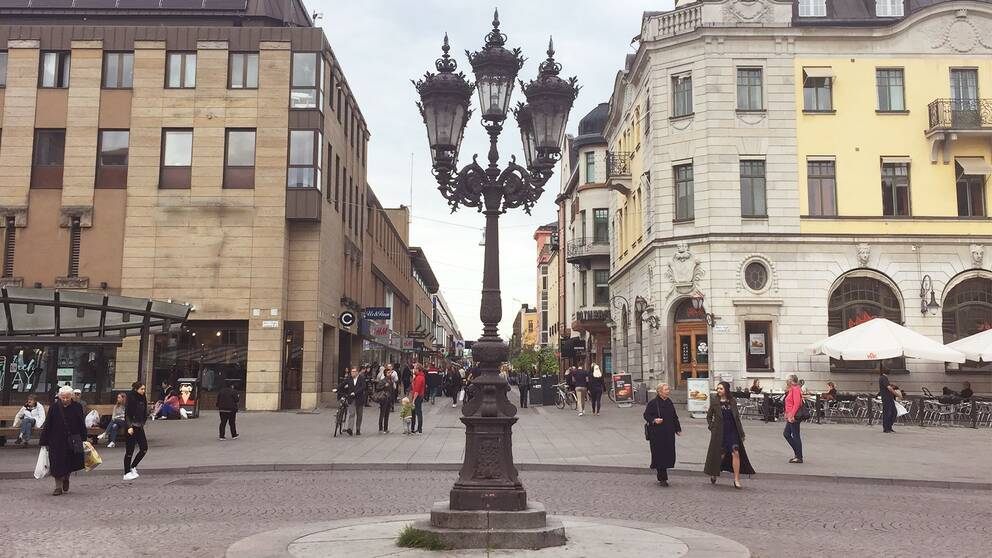 Stora torget Uppsala city centrum
