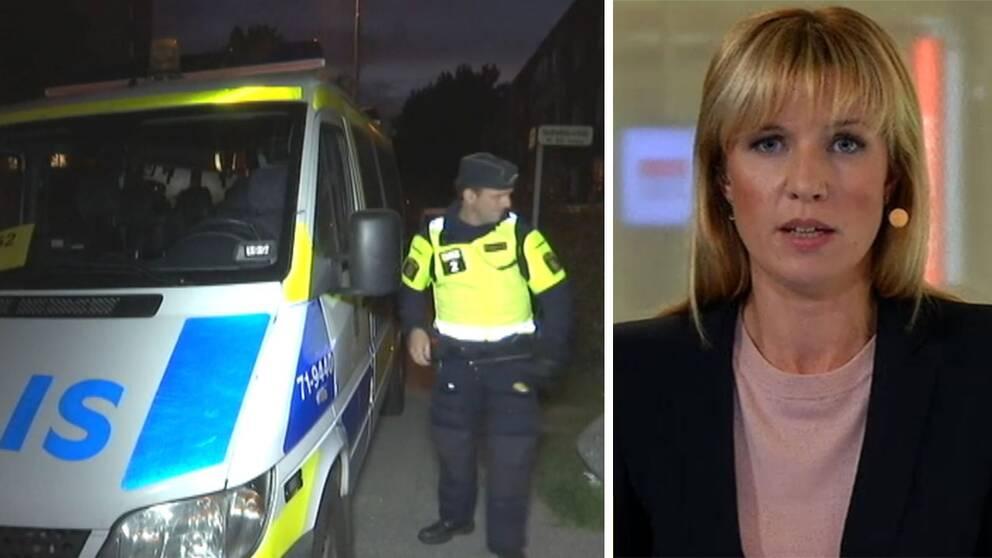 SVT Nyheter sänder live med anledning av skottlossningen i Malmö