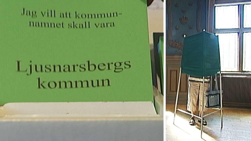 Vallokal, omröstning, kommunnamn, Ljusnarsberg