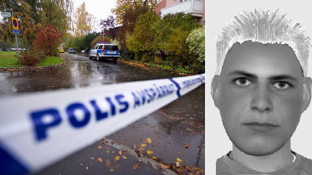 Polisens fantombild av dubbelmördaren i Linköping den 19 oktober 2004