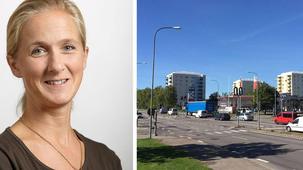 Ylva Gustafsson Höjer som är enhetschef på Trafikverket och Ekebykorsningen.