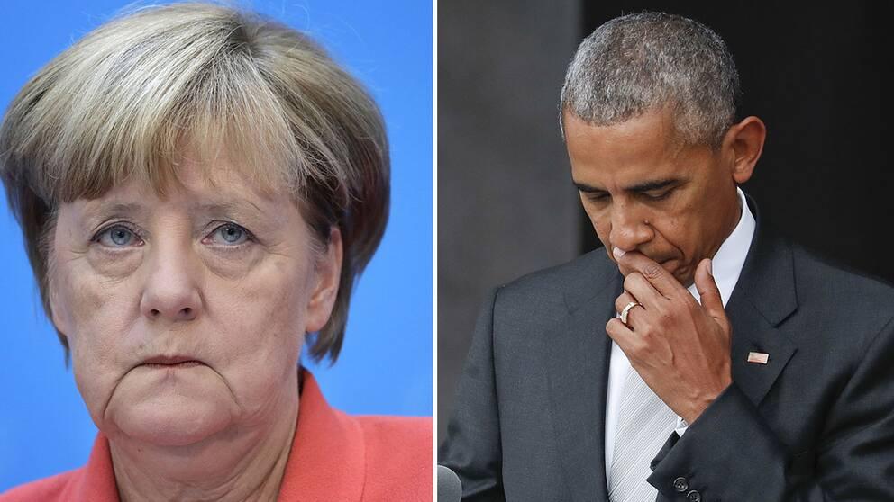 Merkel och Obama.