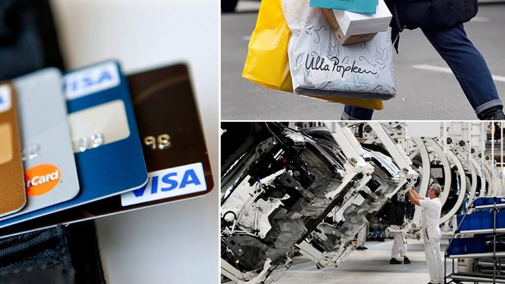 Bilder som symboliserar konjunkturen