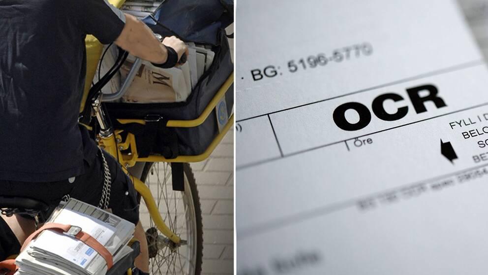 Postcykel och faktura i montage