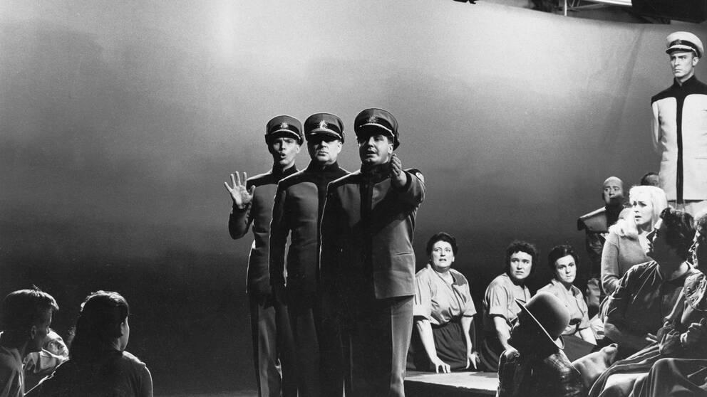 """Uruppförandet av operan """"Aniara"""" 1959"""