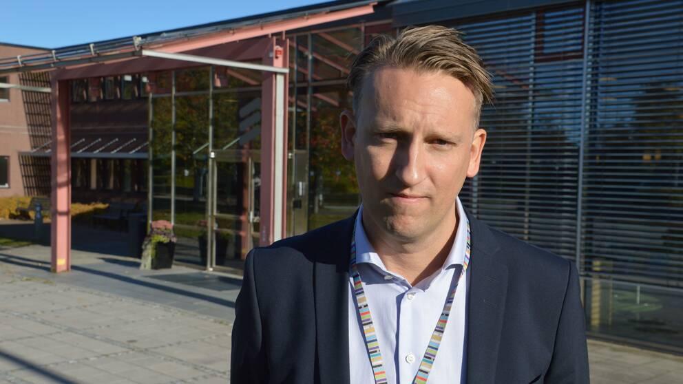 Matthias Lidén, produktionschef på Ericsson i Kumla