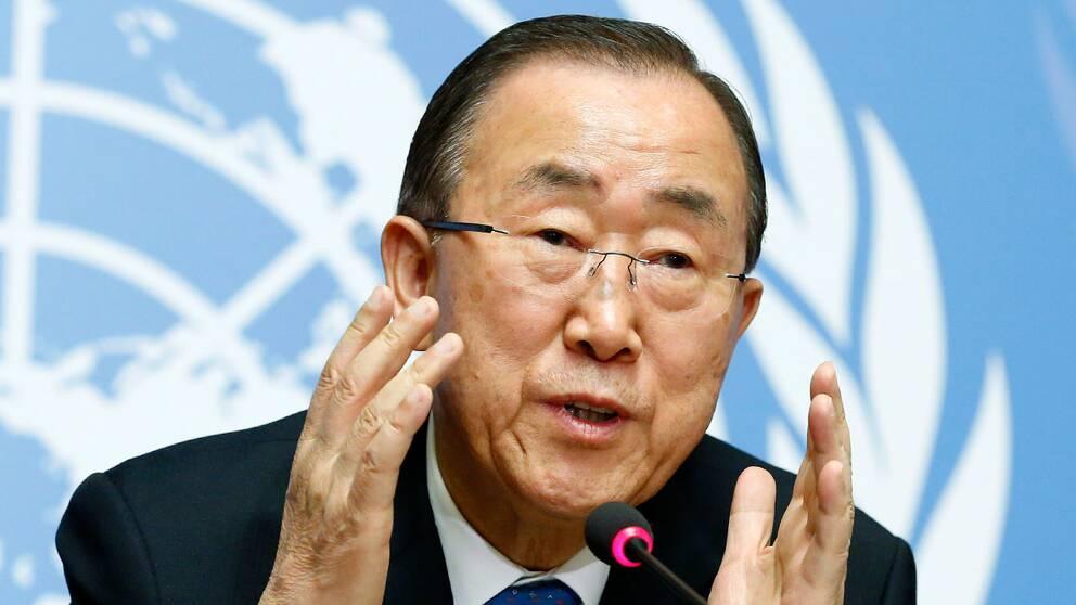 FN-chefen Ban Ki-Moon. Arkivbild.