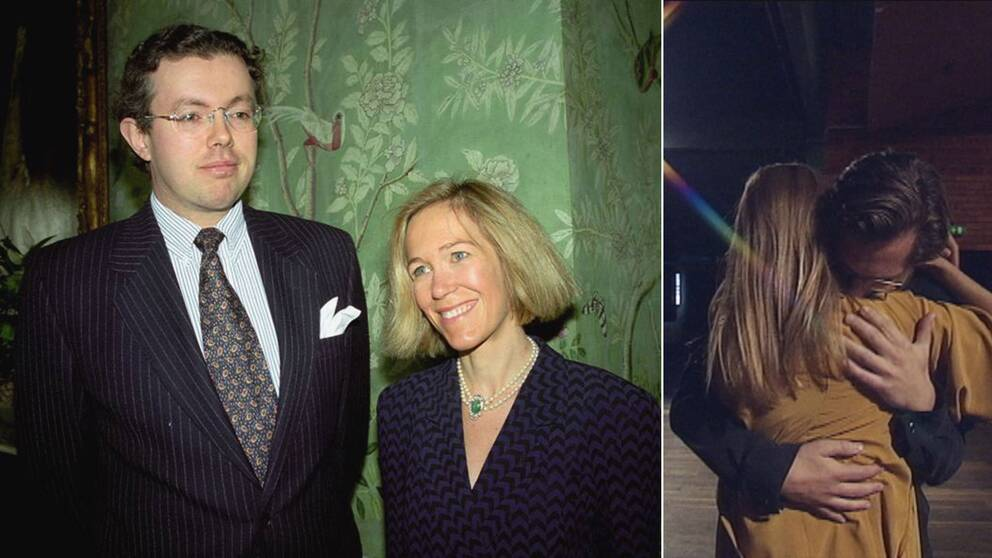 Hans och Eva Rausing, 1996. Till höger en bild ur den kommande operan.