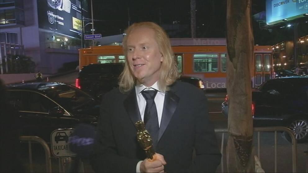SVT mötte en glad Paul NJ Ottosson som just fått sin tredje Oscar.