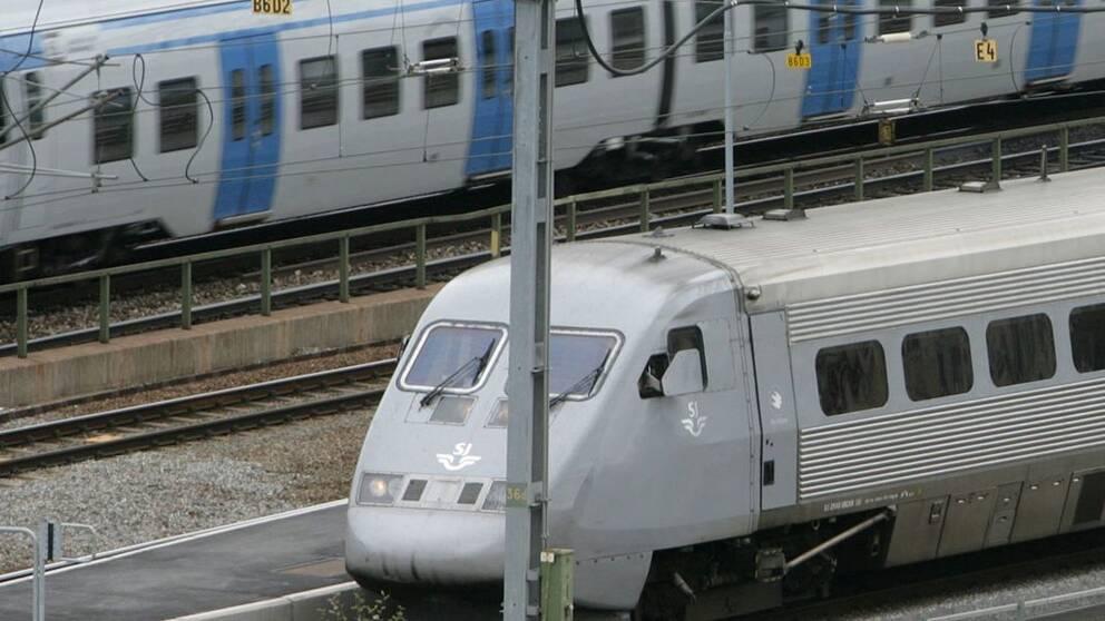 Forseningar i tagtrafiken soderut fran stockholm