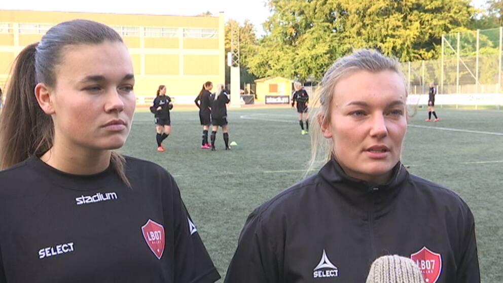 Systrarna Welin från Höllviken.