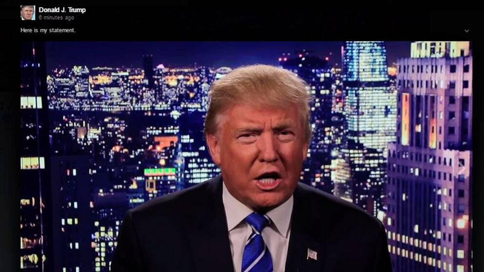 Trump ber om ursäkt.