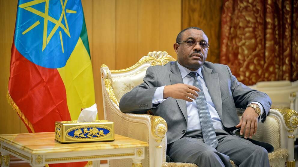 Etiopiens premiärminister Hailemariam Desalegn inför ett sex månader långt undantagstillstånd. Arkivbild.