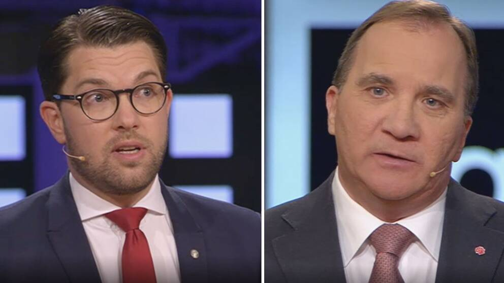 Jimmie Åkesson och Stefan Lofven.