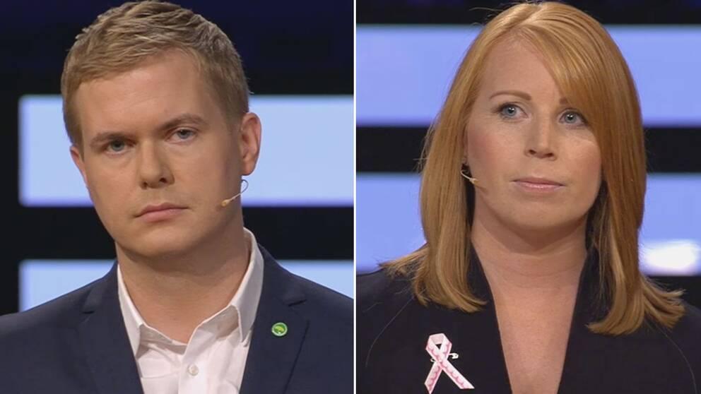Gustav Fridolin och Annie Lööf.