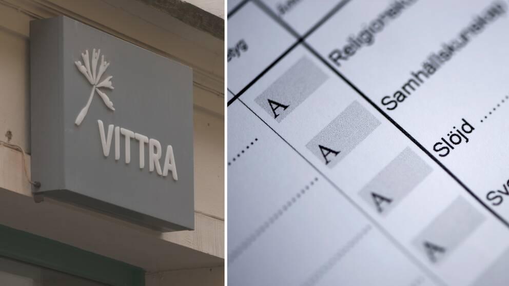 En rektor på friskolan Vittra ändrade i de betyg som läraren satt utan hennes vetskap.