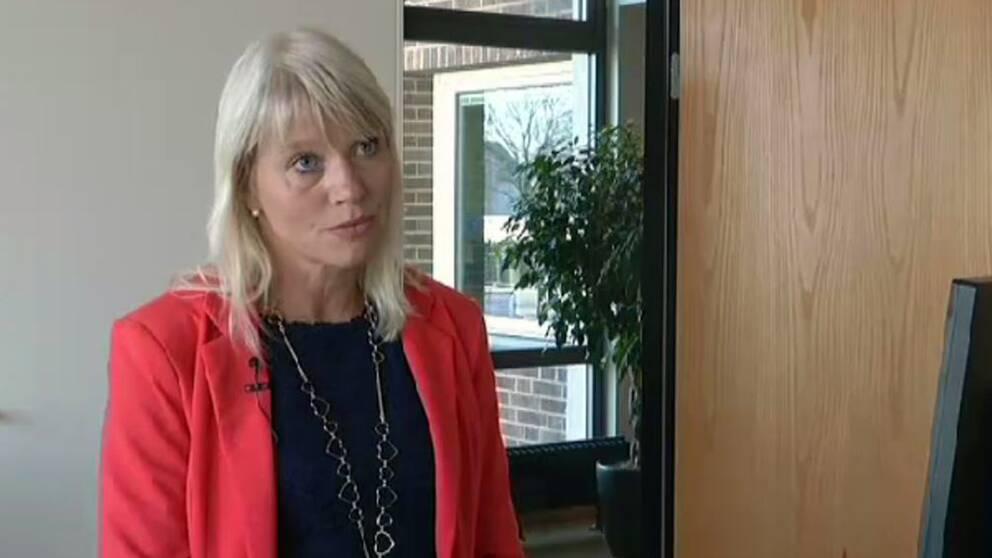 Carina Wutzler (M) är kommunstyrelsens ordförande i Vellinge.