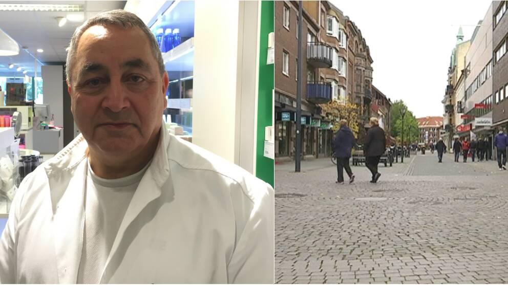 Farhad Badeie, ordförande i Halmstads city och centrumbild, Halmstad.