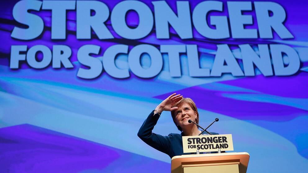 Nicola Sturgeon, ledare för det skotska nationalistpartiet (SNP).