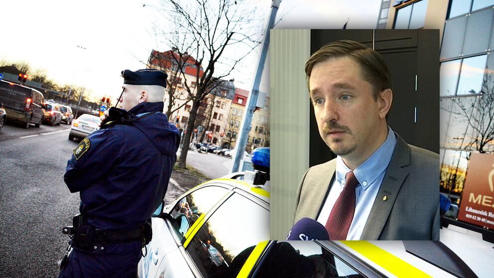 En polis på jobbet och HR-chefen för polisregion Bergslagen.