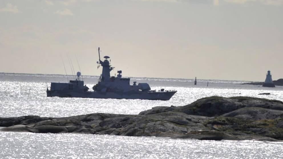 En av försvarets kustkorvetter